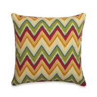 20-Inch Square Throw Pillow in Zig Zag