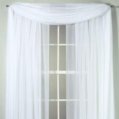 buy sheer window scarf from bed bath beyond