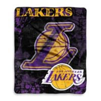 NBA Los Angeles Lakers Super-Plush Raschel Throw Blanket