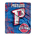 NBA Detroit Pistons Super-Plush Raschel Throw Blanket