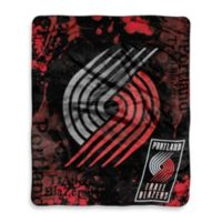 NBA Portland Trailblazers Super-Plush Raschel Throw Blanket
