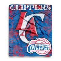 NBA Los Angeles Clippers Super-Plush Raschel Throw Blanket