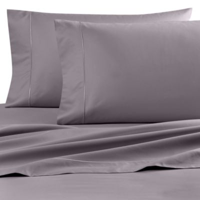 buy wamsutta finest sateen 725 thread count full deep pocket fitted sheet in grey from bed bath. Black Bedroom Furniture Sets. Home Design Ideas