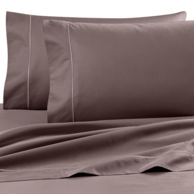wamsutta finest sateen twin extra long flat sheet in taupe