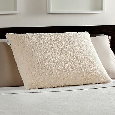 Standard Queen Memory Foam Luxury Bed Pillow With Sherpa