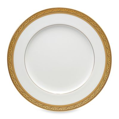 Noritake Summit Gold 10.75-Inch Dinner Plate  sc 1 st  Bed Bath \u0026 Beyond & Buy Gold White Dinner Plates from Bed Bath \u0026 Beyond