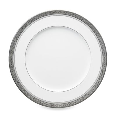 Noritake® Summit Platinum 10.75-Inch Dinner Plate  sc 1 st  Bed Bath \u0026 Beyond & Buy Platinum White Dinner Plates from Bed Bath \u0026 Beyond