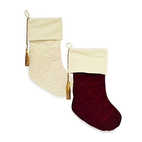 Harvey Lewis™ Quilted Velvet Christmas Stockings