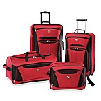 American Tourister® Fieldbrook II 4-Piece Rolling Luggage Set in Red/Black