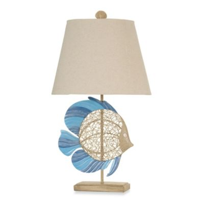 buy coastal shutter table lamp in yellow from bed bath beyond. Black Bedroom Furniture Sets. Home Design Ideas