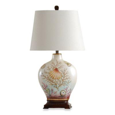 Coastal Coral Bay Ceramic Table Lamp