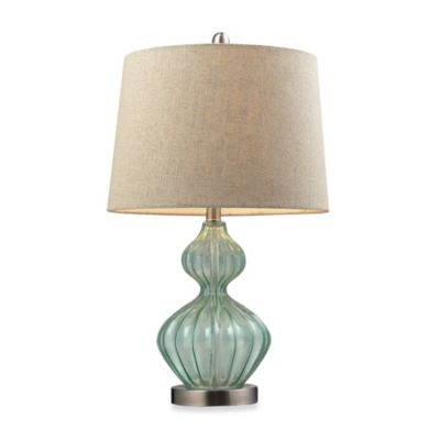 Green Glass Lamp Shade From Bed Bath And Beyond