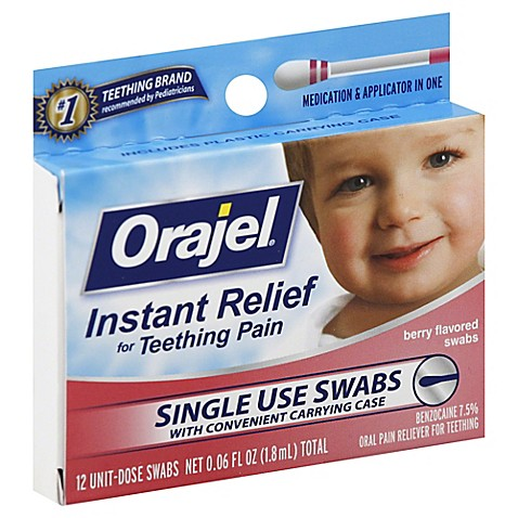 Baby Orajel 174 12 Count Teething Swabs Bed Bath Amp Beyond