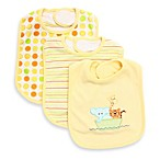Spasilk® 3-Pack Terry Bib with Ark Applique in Yellow