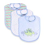 Spasilk® 3-Pack Terry Bib with Dino Applique in Blue