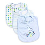 SpaSilk® Plane 3-Pack Bib Set in Blue