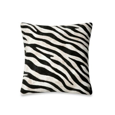 Buy Liora Manne 12-Inch x 20-Inch Oblong Throw Pillow in Zebra from Bed Bath & Beyond