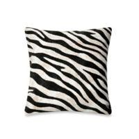Liora Manne 20-Inch Square Throw Pillow in Zebra