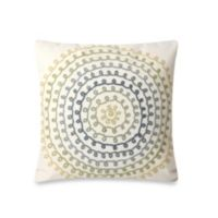Liora Manne Ombre Threads 20-Inch Square Throw Pillow in Cool Green/Taupe