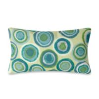 Liora Manne Oblong Outdoor Throw Pillow in Puddle Dot Spa