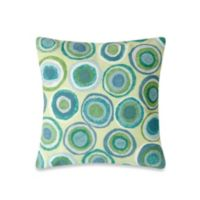 Liora Manne 20-Inch Square Outdoor Throw Pillow in Puddle Dot Spa