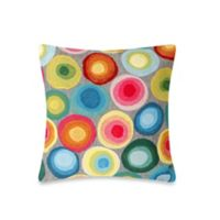Liora Manne 20-Inch Square Outdoor Throw Pillow in Puddle Dot Multi
