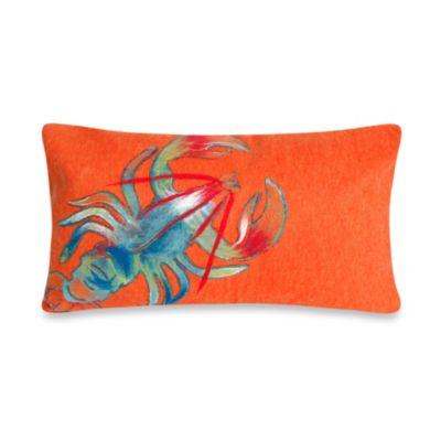 Liora Manne Oblong Outdoor Throw Pillow In Lobster Orange