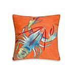 Liora Manne 20-Inch Square Outdoor Throw Pillow in Lobster Orange