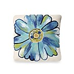 Liora Manne 20-Inch Square Outdoor Throw Pillow in Daisy Aqua