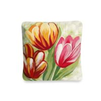 Liora Manne 20-Inch Square Throw Pillow in Tulips