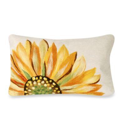 Liora Manne Oblong Outdoor Throw Pillow In Sunflower Yellow