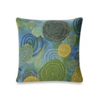Liora Manne 20-Inch Square Outdoor Throw Pillow in Graffiti Swirl Cool