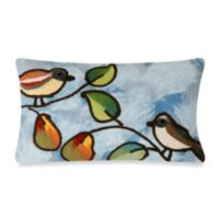 Liora Manne 12-Inch x 20-Inch Oblong Throw Pillow in Blue Song Birds