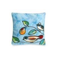 Liora Manne 20-Inch Square Throw Pillow in Blue Song Birds
