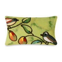 Liora Manne Oblong Outdoor Throw Pillow in Song Birds Green
