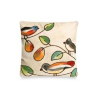 Liora Manne 20-Inch Square Outdoor Throw Pillow in Song Birds Cream