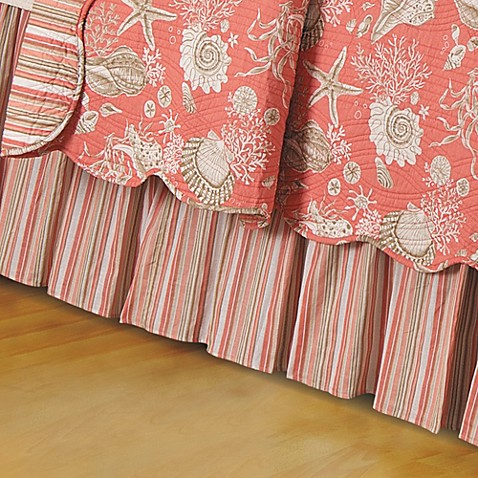 Natural Shells Bed Skirt In Coral Bed Bath Amp Beyond