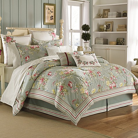 Laura ashley eloise comforter set bed bath beyond - Romantische witte bed ...