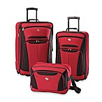 American Tourister® Fieldbrook II 3-Piece Rolling Luggage Set in Red/Black