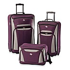 American Tourister® Fieldbrook II 3-Piece Rolling Luggage Set in Purple/Grey