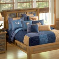 Donna Sharp Denim Square Twin Quilt