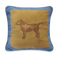 Donna Sharp Denim Square Dog Throw Pillow