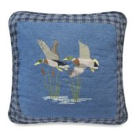 Donna Sharp Denim Square Duck Throw Pillow