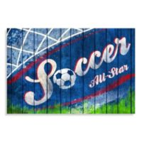 All Star Soccer Canvas Wall Art