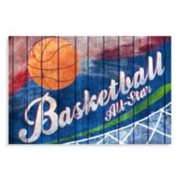 All Star Basketball Canvas Wall Art