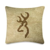 Browning Buckmark 20-Inch Square Pillow in Tan