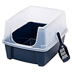 IRIS® High-Sided Cat Litter Pan with Scoop in Blue