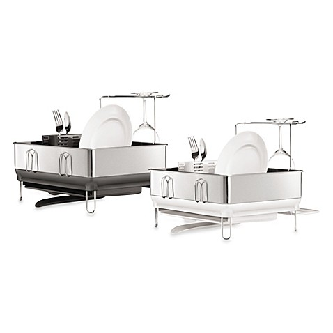 simplehuman® Compact Steel Frame Dish Rack - Bed Bath & Beyond