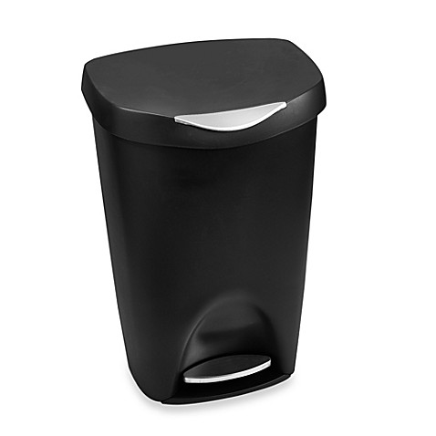 Buy Umbra Brim 13 Gallon Step Waste Can In Black From Bed
