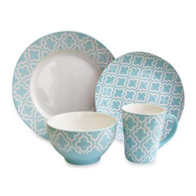 American Atelier Quatre 16-Piece Dinnerware Set in Teal  sc 1 st  Bed Bath \u0026 Beyond & Buy American Atelier Dinnerware from Bed Bath \u0026 Beyond
